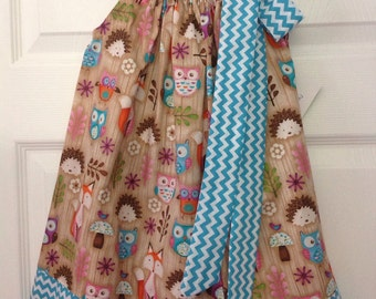 READY TO SHIP - Forest Friends Pillowcase Dress Size 2