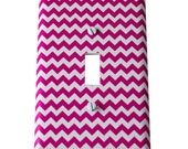 Decor Doodles™ #P3 Pink Chevron Girl light switch cover outlet cover Bedroom decoration nursery decor Custom kitchen light switch plate