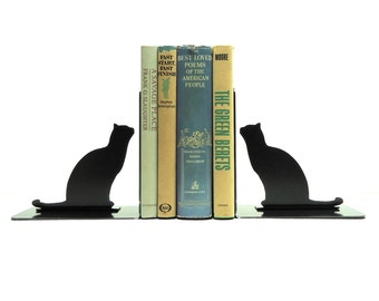 Cat Metal Art Bookends - Free USA Shipping