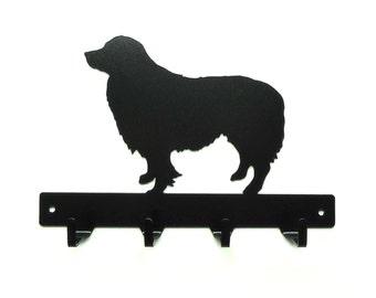 Border Collie Dog Metal Art Leash Rack or Key Rack - Free USA Shipping