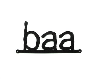 baa metal art sign - Free USA Shipping
