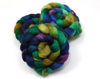 Superwash BFL Wool Roving (Combed Top) - Handpainted Spinning Fiber