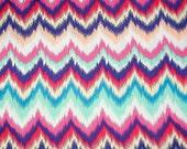 Ikat Chevron Print Cotton Fabric 1 Yard