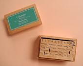 Japanese Calendar Rubber Stamp Set
