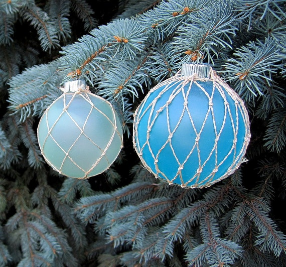 Beach Nautical Decor Net Float Christmas Tree By
