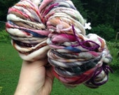 RESERVED RESERVED  Art yarn 87 yds 6.5 oz BIG skein handspun, homespun, multicolored, thick and thin. Love in nes.