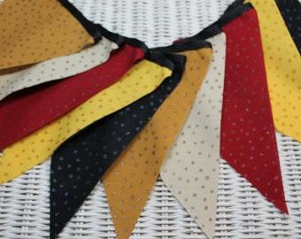 Free USA Shipping/Halloween Fabric Banner/Autumn Fabric Bunting/Fabric Pennant/Fall Bash Banner/Fall Banner/Fabric Banner/Party Banner