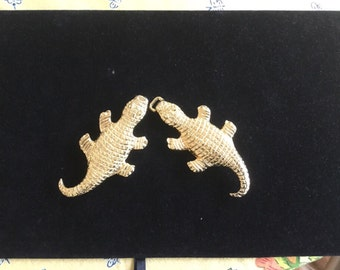 Vintage Mimi Di N Alligator Belt Buckles 1974