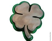 4-LEAF Clover Belt Buckle / Handmade Buckle/ Celtic Buckle / Good Luck / Luck of the Irish / Cool Buckle