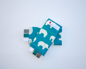 ORGANIC Sucking Pads - Elephant Ellie Fam-these fit Ergo, Tula, Mei Tai, Beco, Boba, BabyHawk and more