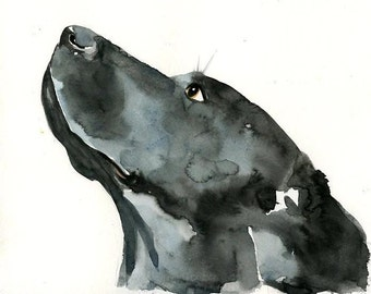 Custom dog portrait Pet portrait memorial Custom pet painting Original watercolor painting 8X10inch