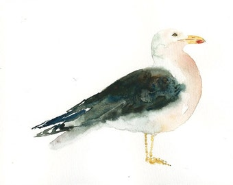 SEAGULL Original watercolor painting 10x8inch