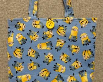 Minions Tote Bag/Book Bag/Preschool Tote/Go Bag