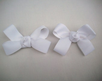 Lot of 2 White Pigtail Bows