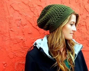 CROCHET PATTERN PDF ,  Urban Mesh Slouchy Crocheted Hat pattern - Women's beanie, Teen's hat, Men's beanie, Instant Download, yarntwisted