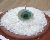 Sea Glass Pendant - Green Multi Sea Glass Pendant Necklace