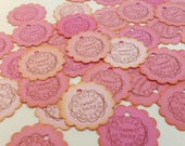 50 Baby Girl Shower Favor Tags Baby Shower Nail Polish Pink Ombre