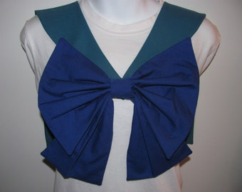 Teal Collar and Blue Bow Sailor Scout Neptune Cosplay Costume