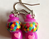 Small Purple Gumball Machine earrings