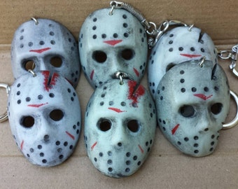 Jason Voorhees Hockey Mask Keychain.
