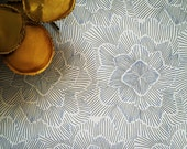 Removable Wallpaper // Pinstripe Floral  //Perfect for renters and DIY crafters