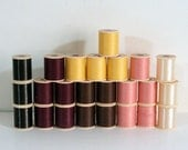 Quilting Thread, Americana Glaced Cotton and Nylon, 24 Spools