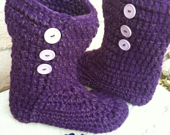 Crochet Boots, Slipper Boots, Houseshoes, Womens Slippers
