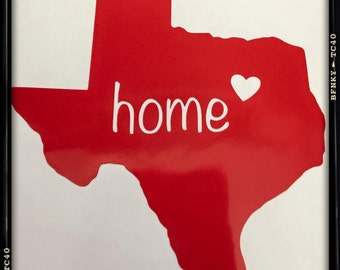 State Home Car Decal