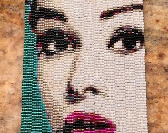 Audrey Hepburn Peyote Stitch Cuff Bracelet