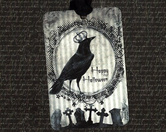 Halloween, Raven, Happy Halloween Tags, Raven Tags, King of Halloween