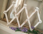 accordion rack accordion hooks wood hanger wooden pegs scarf rack belt rack shabby chic white hooks wood peg rack