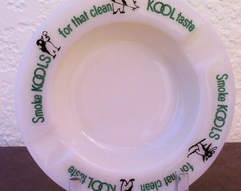 Kool Cigarette Advertising Ashtray, Vintage1950s Tobacciana