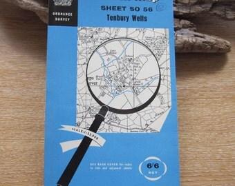 1960 Vintage Ordnance Survey Map of Tenbury Wells