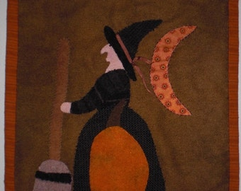Wool Applique Wall Hanging