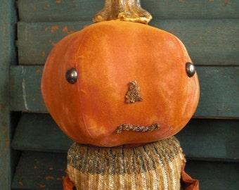 Primitive Pumpkin Stocking