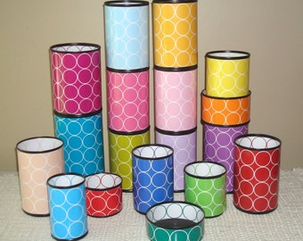 LOTS of COLORS - Fun Desk Accessories - Geometric Circles Pencil Holder - Desk Organizer - Dorm Decor - Classroom Organization - 603