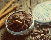 Coffee Cinnamon Body Polish organic and natural scrub from Body Desserts collection 5 oz - Spicy Wakeup