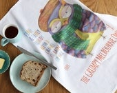 Tea Towel - The Grumpy Melbourne Owl