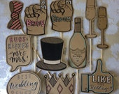 Handmade Wedding Photo Prop Set of 11 pcs