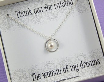 Mother of the Bride Necklace Gift, Mother Of The Bride Necklace, Mother of the Bride Gift Box Necklace,Mother of Bride Gift, Circle Necklace