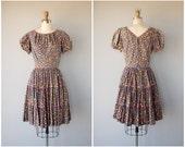 1950s Dress | Vintage 50s Dress | 50s Floral Print Dress | 50s Day Dress | Cotton Dress 1950s