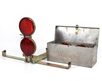 SALE | Vintage Vari-Flare Boxed Set of 3 Reflector Road Flares