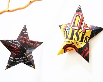 Hop Crisis Beer Stars, Christmas Ornaments, Aluminum Can, Upcycled, 21st Amendment Brewery