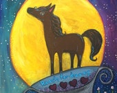Special Listing just for Melissa Reach For Your Dreams Happy Horse Painting