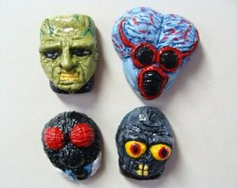 Classic Monster  Refrigerator Magnets set C(Heads)