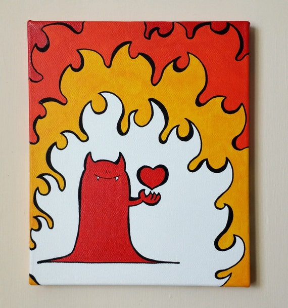 Acrylic Painting On Canvas - Original - Chep Devil