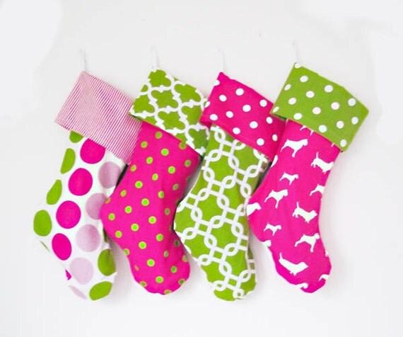 Christmas Stockings, Jumbo 2 foot custom holiday stockings, christmas decorations, polka dots, chevrons, matching family stockings