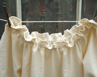 Prairie Nightgown Womens XSm - XLg Cotton Flannel No Lace Custom Made