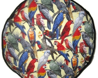 Parrots Pouffe Footrest Floor Cushion Pouf