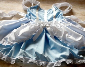 Cinderella princess Costume  Bustle Dress with Lace